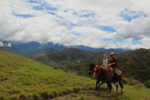 Vilcabamba panorama with us