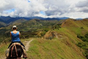 Vilcabamba view - J and trail