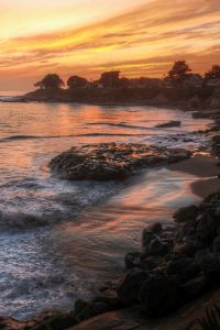 Sunset on Westcliff Drive, Santa Cruz, CA