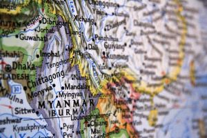 Map and Myanmar