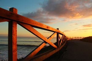 Westcliff fence around sunset