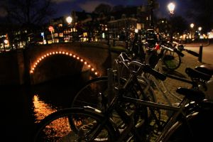 Amsterdam evening canal