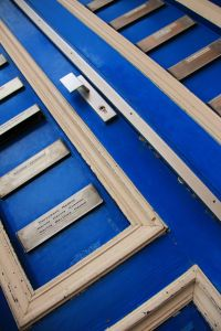 Brussels blue door