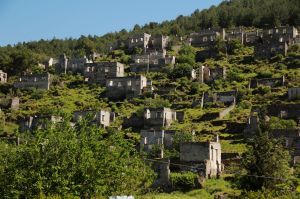 Abandoned homes in Kayakoy, Turkey