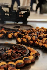 Roasted chestnuts on the street in Istanbul