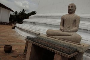 One of the white stupas