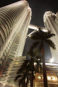 Even the moon came out to see the Petronas Towers in KL