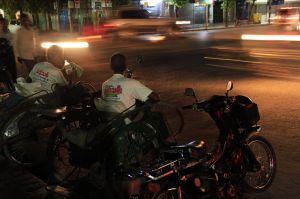 Mandalay traffic night