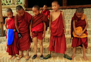 Myanmar boy monks