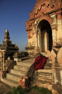 Like this temple in Bagan, Myanmar, that was an interesting walk. Why can't I talk about that?
