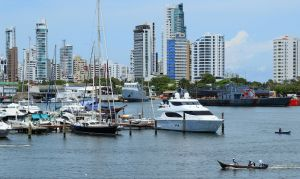 It was too hot and manly to take pics in the actual yacht harbor, but these are the same Cartagena visit.
