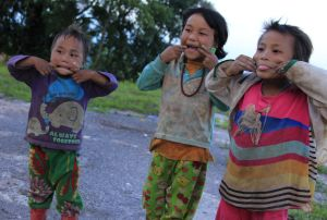 Is it clear what these Pa-O kids in a tiny mountain village in Myanmar think of our poopophobia?