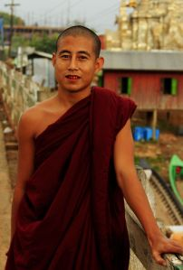 I wish I could ask my Burmese monk buddy, despite no common spoken language and betel-stained teeth.