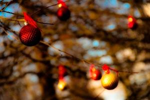 Christmas tree ornaments outside 02