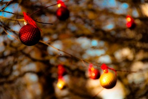 Christmas tree ornaments outside 02