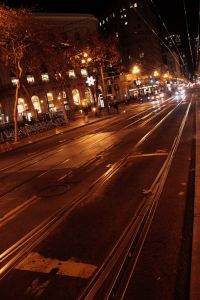 San Francisco, Market Street at night