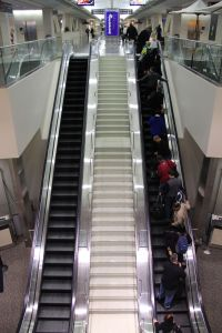Escalator, airport