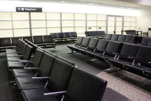 Empty chairs, airport