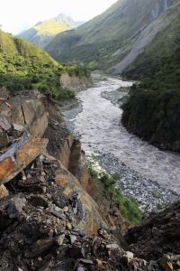 Urubamba River, Peru, cable car and zip-line