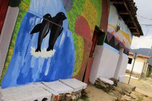 Apaneca, Ruta de las Flores, mural