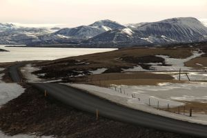 Iceland, fjord, highway, travel