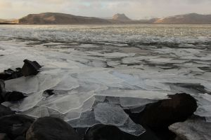 Iceland, ice on the beach, travel