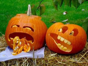 funny pumpkin carving ideas, sick pumpkins