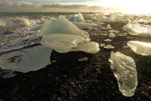 ice beach, Hofn, glacial lagoon, travel