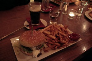 Iceland food travel reindeer hamburger Hofn