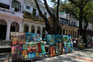 street art paintings in Havana travel photo