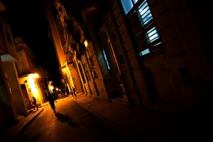 Havana backstreets at night