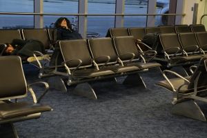 MIA airport sleeping