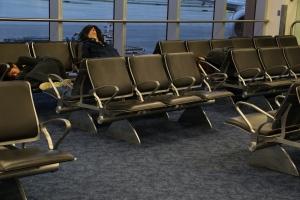 MIA airport sleeping