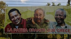 Roadside billboard in Cuba