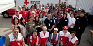 American Red Cross volunteers in Los Angeles