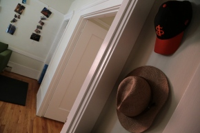 My new digs are a place to hang my hat