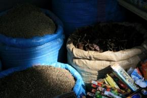 Another ubiquitous herb bag pic, Tangier souk April, 2009.