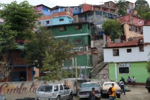 Colorful houses in the suburbs of Caracas