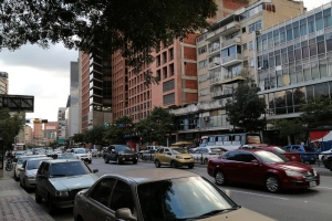 Normal Caracas street, travel in Venezuela