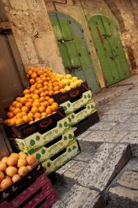 Jerusalem Old City street stand