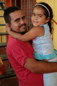 Alvaro and his daughter