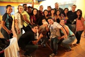 3 of 5 delegates, dancers, musicians, and a magician, in Barquisimeto