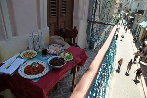 Comida, cafe, and a diary in Havana