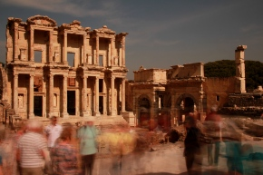 I was going to use a photo of Mercury I took in Rome, but my external hard drive seems to be on the fritz, so here's Ephesus, looking chaotic. Is it tomorrow yet?