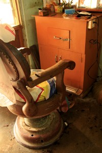 The ancient barber chair in Nyaung Shwe, Myanmar