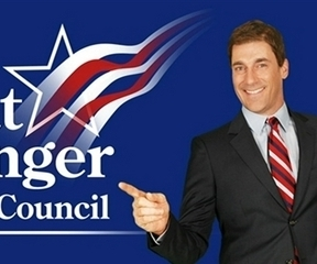 Candidate Smiling Guy has a finger