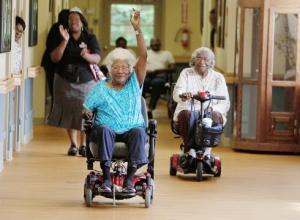 nursing home skooter race