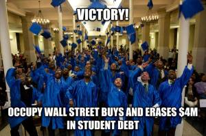 Occupy Wall Street erases student debt