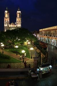Campeche plaza evening