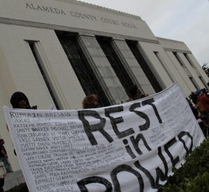 Too many names, outside the Alameda County Courthouse